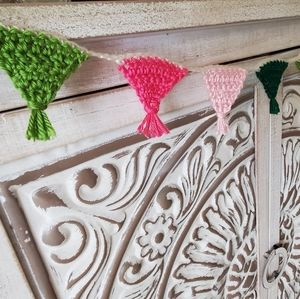 NEW Mini Spring Bunting Hand Crocheted